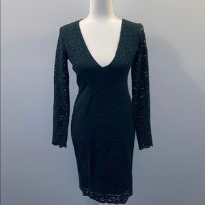 EXPRESS lace body con dress